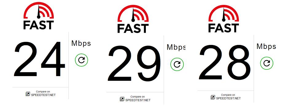 Speedtest lần 4