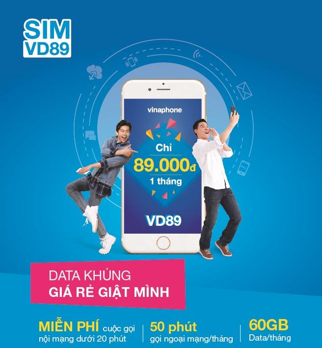 Đăng ký gói cước VD89 gọi điện free, nhận ngay 60GB lướt web tẹt ga chỉ với 89000đ