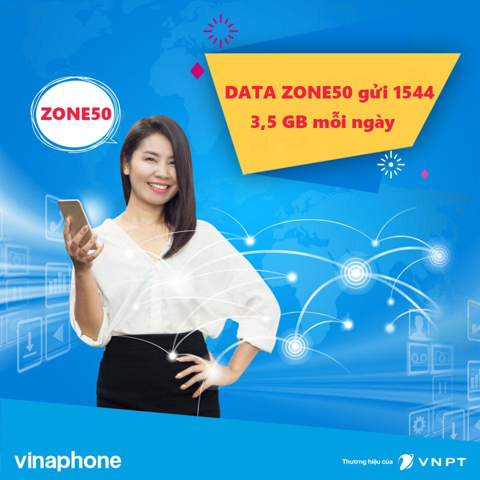 đăng ký gói cước 3G Vinaphone ZONE50