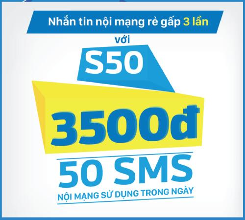 Đăng ký gói S50 Vinaphone nhận 50 tin nhắn nội mạng chỉ với 3500đ